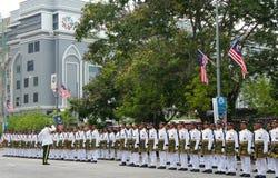 den malaysia militären ståtar Arkivbilder