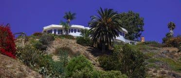 Den Malibu stranden & det dröm- huset kommer riktigt royaltyfri fotografi