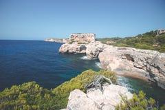 Den Mallorca ön är det störst av Balearicen Island Arkivbilder
