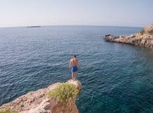 Den Mallorca ön är det störst av Balearicen Island Arkivbild