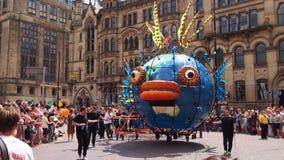 Den Manchester dagen ståtar Arkivfoto
