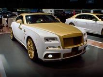 Den Mansory Rolls Royce vålnaden gömma i handflatan upplaga 999 på Genève 2016 Arkivfoton
