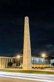Den Marconi obelisken, i EUR-området, Rome, Italien Arkivfoto
