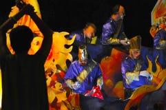 Den Mardi Gras natten ståtar arkivfoton