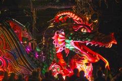 Den Mardi Gras natten ståtar royaltyfri bild