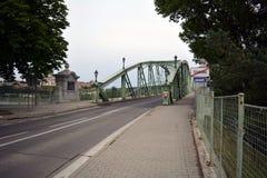 Den Maria Valeria bron som fotograferar den slovakiska sidan Royaltyfri Foto
