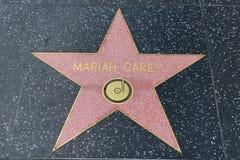 Den Mariah Carey stjärnan på Hollywood går av berömmelse arkivfoton