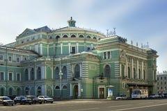 Den Mariinsky opera- och balettteatern i St Petersburg, Ryssland Arkivfoto