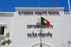 Den maritima polisen som buidling, Portimao Arkivbilder