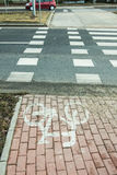 Den markerade cykelbanan Royaltyfria Foton