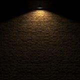 Den markerade stenväggen vid tolkningen för edison lampa 3d Royaltyfria Foton