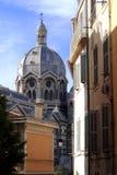 Den Marseille domkyrkan - är en Roman Catholic domkyrka Royaltyfri Fotografi