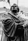 Den Martin Luther monumentet i den Dresden Tyskland Arkivbilder