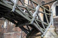 Den matematiska bron och Queenshögskolan Cambridge Royaltyfria Bilder