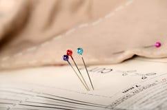 den material modellen pins tre Royaltyfri Bild