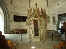 Den mauritiska rotundan eller helgedomen begraver av den Konstanz domkyrkan arkivbilder