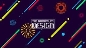 Den maximal designen i en enkel geometri vektor illustrationer
