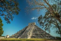 Den mayan Chichen itzaen fördärvar Arkivbild
