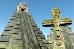 Den Mayan platsen 3D framför stock illustrationer