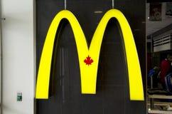 Den Mcdonald logoen undertecknar in Kanada Royaltyfria Foton