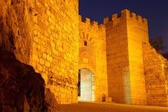 Den medeltida citywallen Royaltyfria Bilder