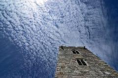 Den medeltida fästningen i England Royaltyfri Foto