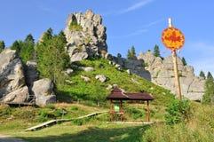 Den medeltida fästningfästningen, vaggar Fotografering för Bildbyråer