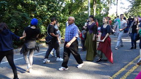 Den medeltida festivalen 2013 på fortet Tryon parkerar 8 Arkivbild