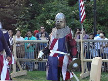 Den medeltida festivalen 2013 på fortet Tryon parkerar 63 Arkivfoto