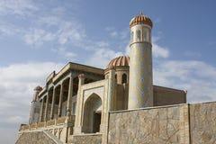 Den medeltida Hazrat Hizr moskén i Samarkand, Uzbekistan Arkivbilder