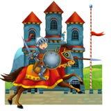 Den medeltida illustrationen för tecknad film för barnen - titelsida - diverse användning Arkivfoton