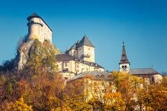 Den medeltida Orava slotten arkivbild