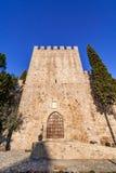 Den medeltida slotten av Alter gör Chao, i Portalegren Royaltyfri Fotografi