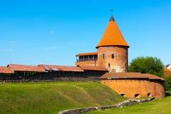 Den medeltida slotten i Kaunas Royaltyfri Fotografi
