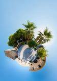 Den medeltida slotten i Larnaca Fotografering för Bildbyråer
