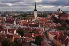 Den medeltida staden Royaltyfria Foton