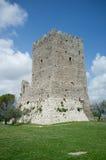 Den medeltida staden av Arpino, Italien Arkivfoto