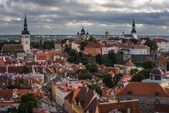 Den medeltida staden av Tallinn Royaltyfri Fotografi