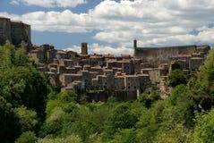 Den medeltida townen Arkivbild