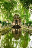 Den Medici springbrunnen, Paris, Frankrike Royaltyfri Foto