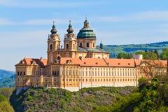 Melk - berömd barock Abbey (Stift Melk), Österrike Royaltyfria Bilder