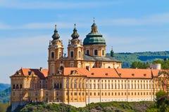 Melk - berömd barock Abbey (Stift Melk), Österrike Fotografering för Bildbyråer