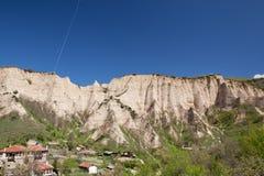 Den Melnik byn nå en höjdpunkt Royaltyfri Fotografi