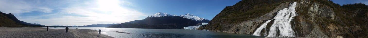 Den Mendenhall glaciären parkerar Royaltyfri Foto