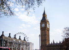 Den mest berömda London gränsmärket Big Ben, London, UK Royaltyfri Foto