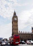 Den mest berömda London gränsmärket Big Ben, London, UK Arkivfoton