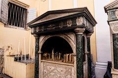 Den mest berömda religiösa monumentet av ön är kyrkan av helgonet Spyridonas Arkivfoto
