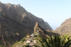 Den mest fantastiska, mest härliga och hisnande sikten, Masca, Tenerife, Spanien Royaltyfria Foton