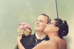 Den mest härliga dagen i liv - bröllopet Arkivfoto