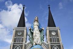 Den mest härliga katolska kyrkan, Chanthaburi pr Royaltyfri Fotografi